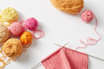 Knitting project in progress