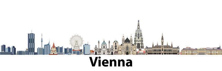 Wall Mural - Vienna vector city skyline