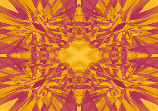 Red and yellow kaleidoscope pattern