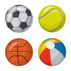 Isolated object of sport and ball sign. Collection of sport and athletic stock symbol for web.