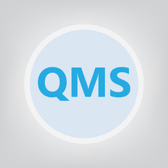 QMS (Quality management system) acronym- vector illustration