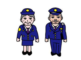 制服のシニア警察官