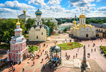 Сергиев Посад. Вид на Лавру с высоты колокольни View of the temples of the Lavra from the height