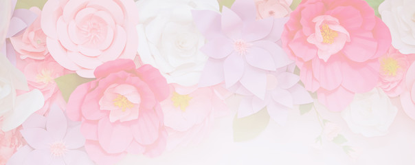 Light pink flowers in soft color for landing page background