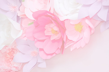 Light pink flowers in soft color for background
