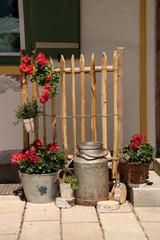 Ruhpolding, Milchkanne, Blumen, Dekoration