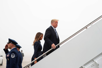 U.S. President Trump boards Air Force One as he departs from Joint Base Andrews in Maryland