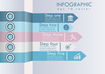 Abstract algorythm of business actions Vector illustration