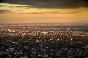 Konya City at Sunset