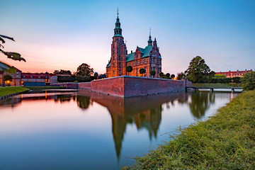 Rosenborg Castle or Rosenborg Slot at sunset, Copenhagen, capital of Denmark
