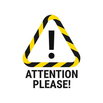 Attention please. Important announcement. Pay attention. Vector illustration
