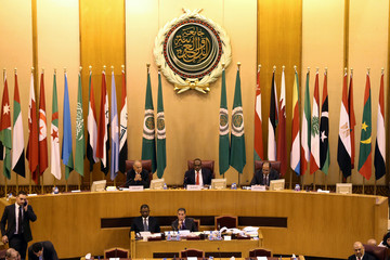 Arab foreign ministers are seen meeting in Cairo