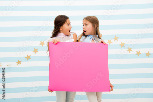 The Surprising News About Childrens >> Shocking Announcement Concept Amazing Surprising News Girl Hold