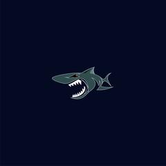 logo animal shark