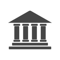 Bank building icon, Bank building logo