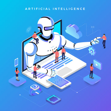 Isometric artificial intelligence AI