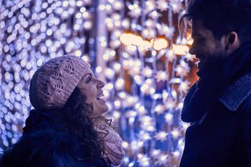 Couple On Christmas Market
