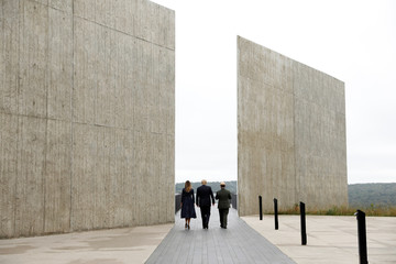 U.S. President Trump and Melania Trump tour the Flight 93 National Memorial near Shanksville, Pennsylvania