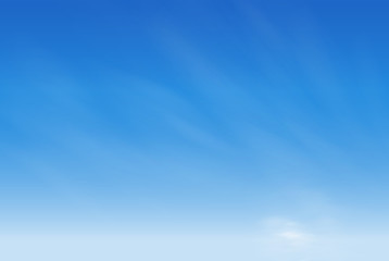 blank blue sky background