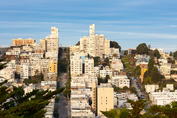 Russian Hill Neighborhood, San Francisco, California, USA