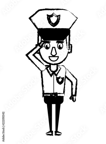 Police Officer Cartoon Sketch Stock Image And Royalty Free Vector