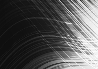 Modern Waving Light Black Abstract background,Flash and Curve concept,design for texture and template,with space for text input,Vector,Illustration.
