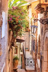 Street of Taormina city