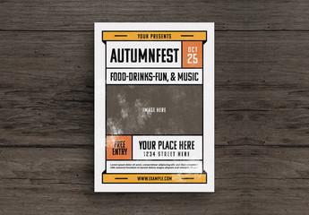 Autumn Festival Flyer Layout