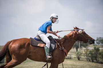 Woman Plays Polocrosse