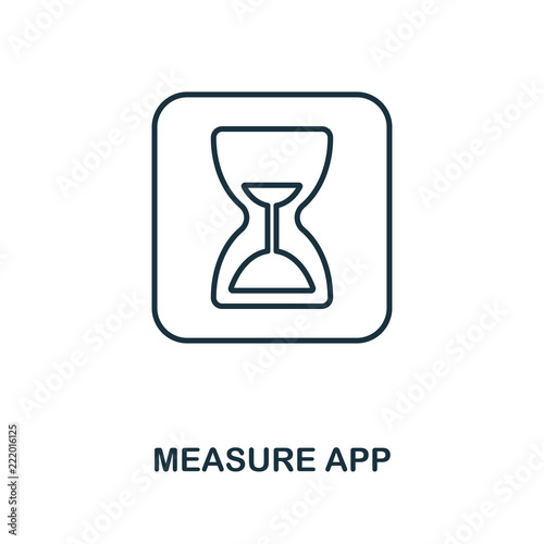 Measure App icon  Monochrome style design from visual device