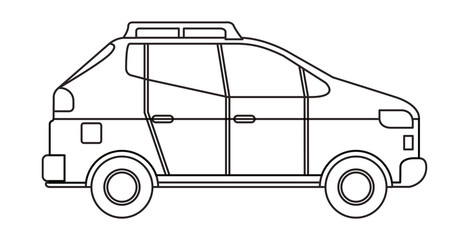 car sedan isolated icon