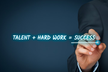 Talent and hard work make success