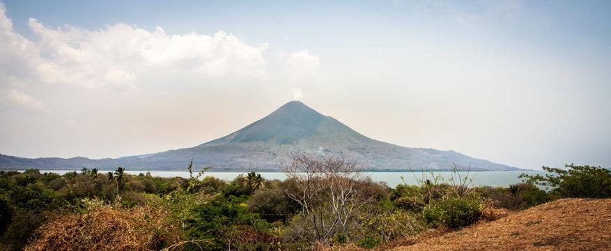 Vulkan Insel Momotombo in der Nähe von Managua in Nicaragua