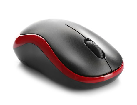Color computer mouse on white background