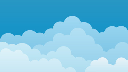 Sky and Clouds Background. Stylish design with a flat poster, flyers, postcards, web banners. Isolated Object. Vector illustration.