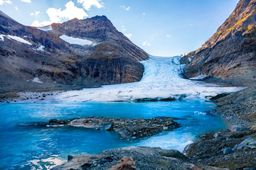 Steindalsbreen Glacier in North Norway, Lyngen Alps near Tromso - attractions for visitor in Scandinavia