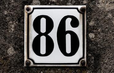 Hausnummer 86