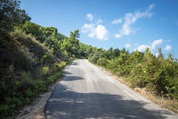 Empty road on Korcula island, Croatia