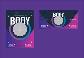 Flyer Layout with Purple Gradient Accents