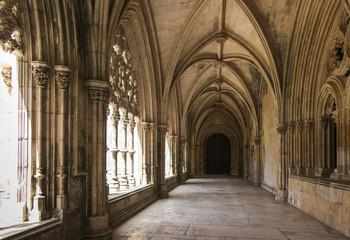 Architectural details of Batalha monastery in Batalha