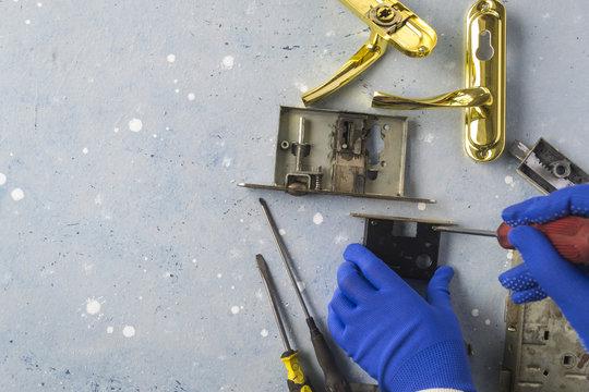 Repair of the door lock.