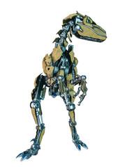 dinosaur robot in a white background