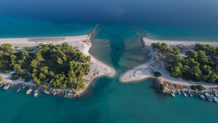 Glarokavos beach in Kassandra peninsula. Halkidiki, Greece