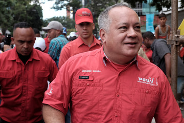 National Constituent Assembly President Diosdado Cabello attends a rally in support of Venezuela's President Maduro in Caracas