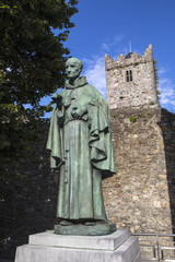 Luke Wadding Statue and the French Church in Waterford