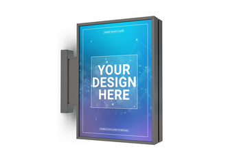 Vertical Sign Mockup