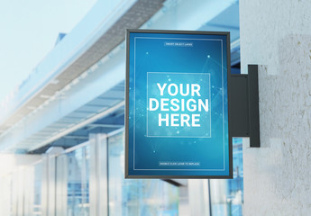 Outdoor Vertical Sign Mockup