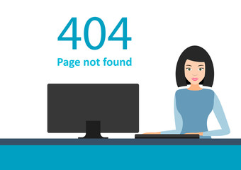Error 404. Page not found template for website.