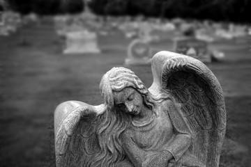 Gravestone Grave Stone in Cemetery Angel Statue