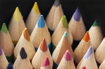 Color pencils, Close up